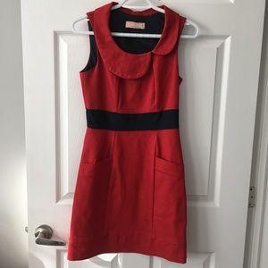 Annie 50 red denim shift dress